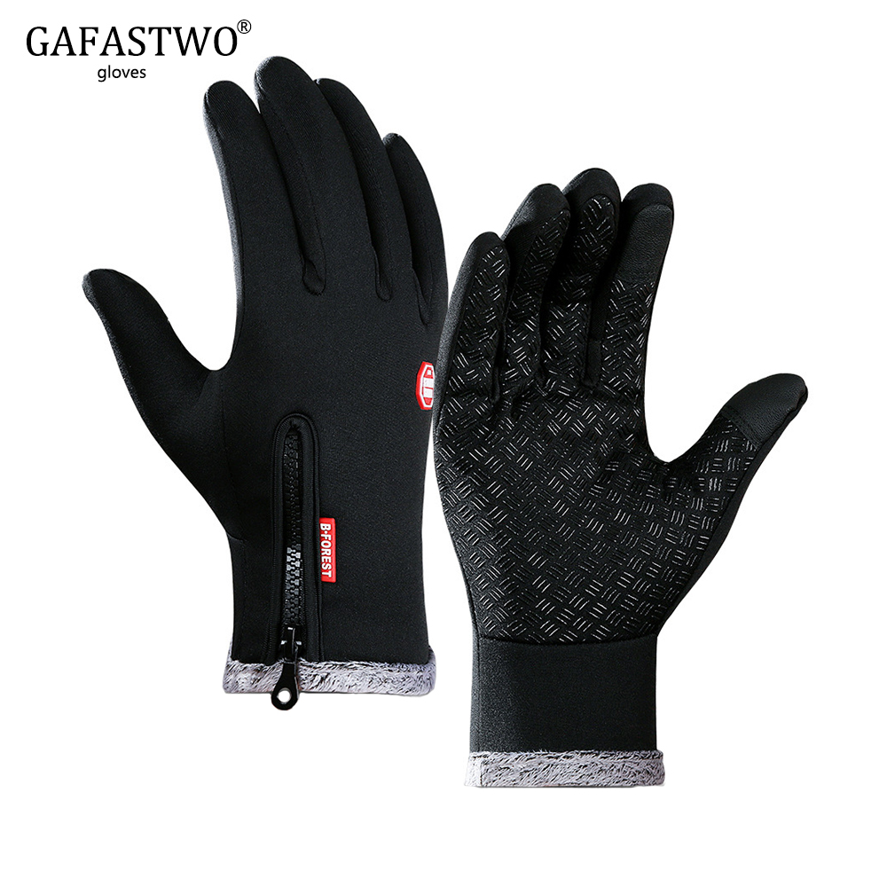 Winter Warm Mens Gloves Thick Fashion Ladies Touch Screen Outdoor Sports Riding Gloves Waterproof Non-Slip Windproof