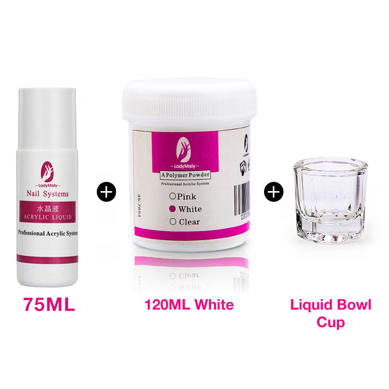 120ml Acrylic Powder Clear Pink White Carving Crystal Polymer 3D Nail Art Crystal Powders Builder Gel Tips Builder for Nails 19