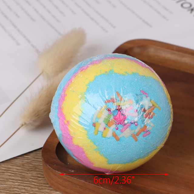 60g 6pcs Organic Bath Salt Body Essential Bath Ball Body Skin Whitening Ease Relax Stress Relief Natural Bubble Bath Bombs Ball 5