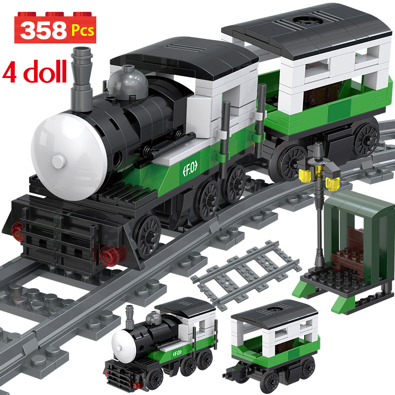 New Technic Locomotive City Sets Model Legoingly City Train Station Passenger Building Blocks Brick Toys For Children Gifts