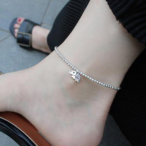 Слон ножной браслет цепочка для ног серебряные бусины 925 пробы браслет на лодыжке очаровательные женские браслеты на ногу ювелирные издели...