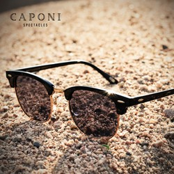 CAPONI Polarized Sunglasses For Women Men Luxury Brand Photochromic Sun Glasses Ray Defend Shade For Male Female UV400 BS3101