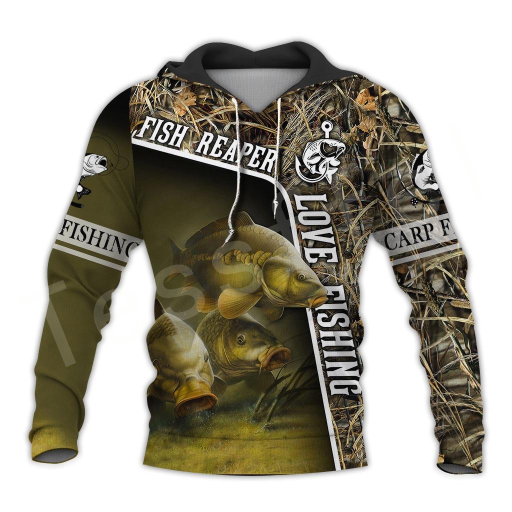 Tessffel NewFashion Animal Deep Bass Fishing Harajuku casual Pullover Funny 3DPrint Zipper/Hoodie/Sweatshirt/Jacket/Men Women 11