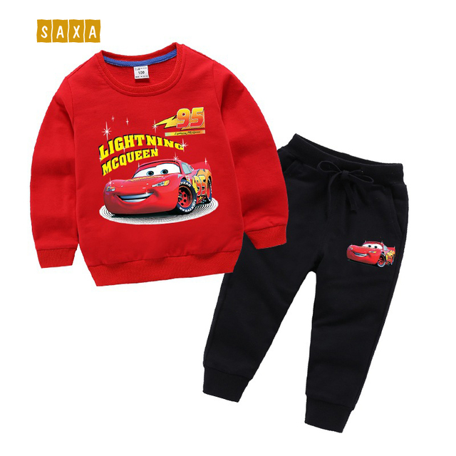 Childrens Sets spring and autumn new childrens clothes 100% cotton childrens sweater + trousers cartoon boy girl suit