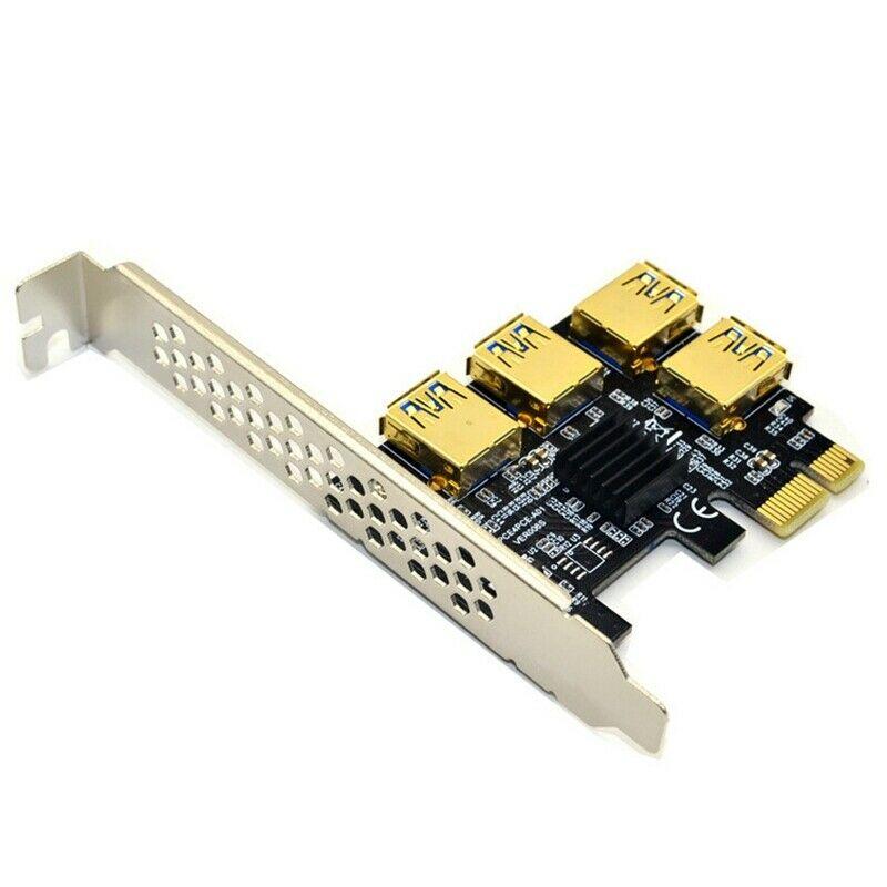 Лидер продаж, Райзер-карта PCIE PCI-E PCI Express, от 1x до 16x1 до 4, слот USB 3,0, усилитель, концентратор, адаптер для устройств майнинга биткоинов, майнинга...