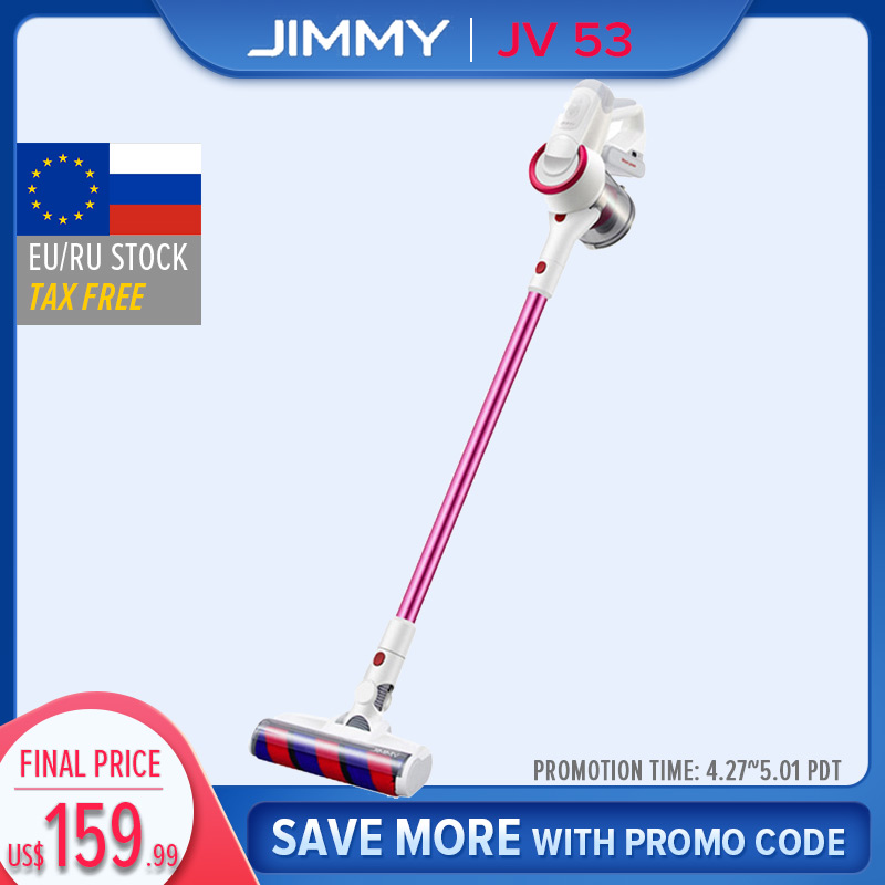 【Free Duty】【Fast Shpping】JIMMY JV53 Handheld Cordless Vacuum Cleaner Global Version 425W Powerful Suction Lightweight 20000Pa