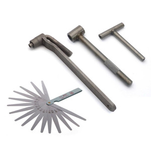 Motorcycle Engine Valve Adjustment Tool Square Hexagon Socket T Spanner Valve Screw Wrench 8mm 9mm 10mm Feeler Gauge 0.02 to 1mm(China)
