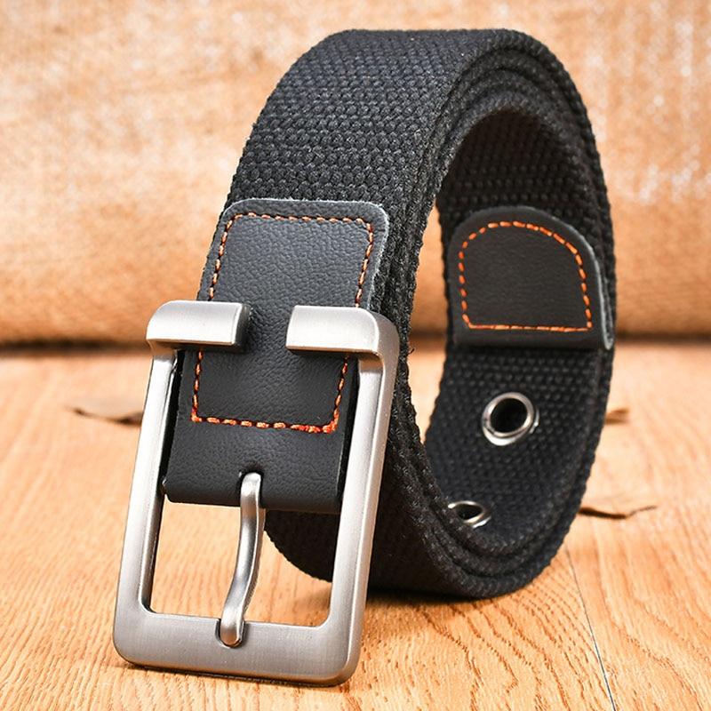 MEDYLA Canvas Belt Men's Pin Buckle Thick Casual Casual Belts Army Fan Fat Belt
