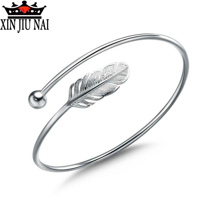 European and American hot sellers Rhod feather simple design ANGEL BRACELET leisure / Travel Jewelry best gift for women image