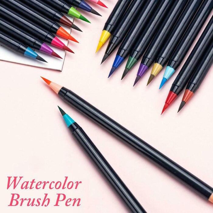 canetas marcadores de água tinta da arte