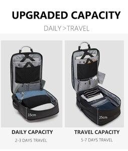Image 4 - הארקטי האנטר 40L גדול קיבולת Mens להרחבה תרמילי USB טעינת זכר 17 אינץ מחשב נייד שקיות עסקים עמיד למים נסיעות תיק