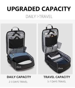 Image 4 - ARCTIC HUNTER 40L Large Capacity Mens Expandable Backpacks USB Charging Male 17 inch Laptop Bags Waterproof Business Travel Bag
