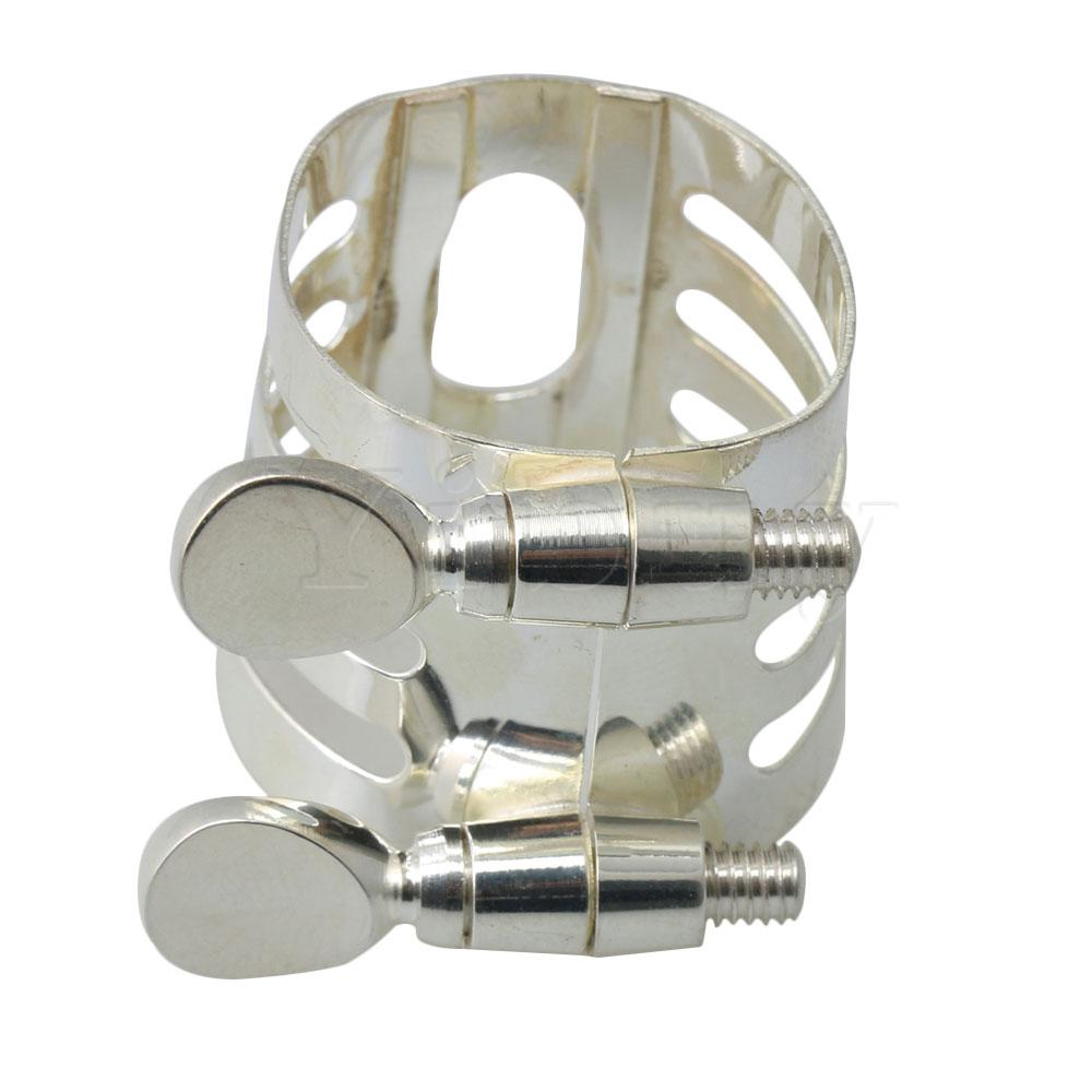 Yibuy Clarinete Ligatures Metal Plated 27x4mm Musical Replacements Part