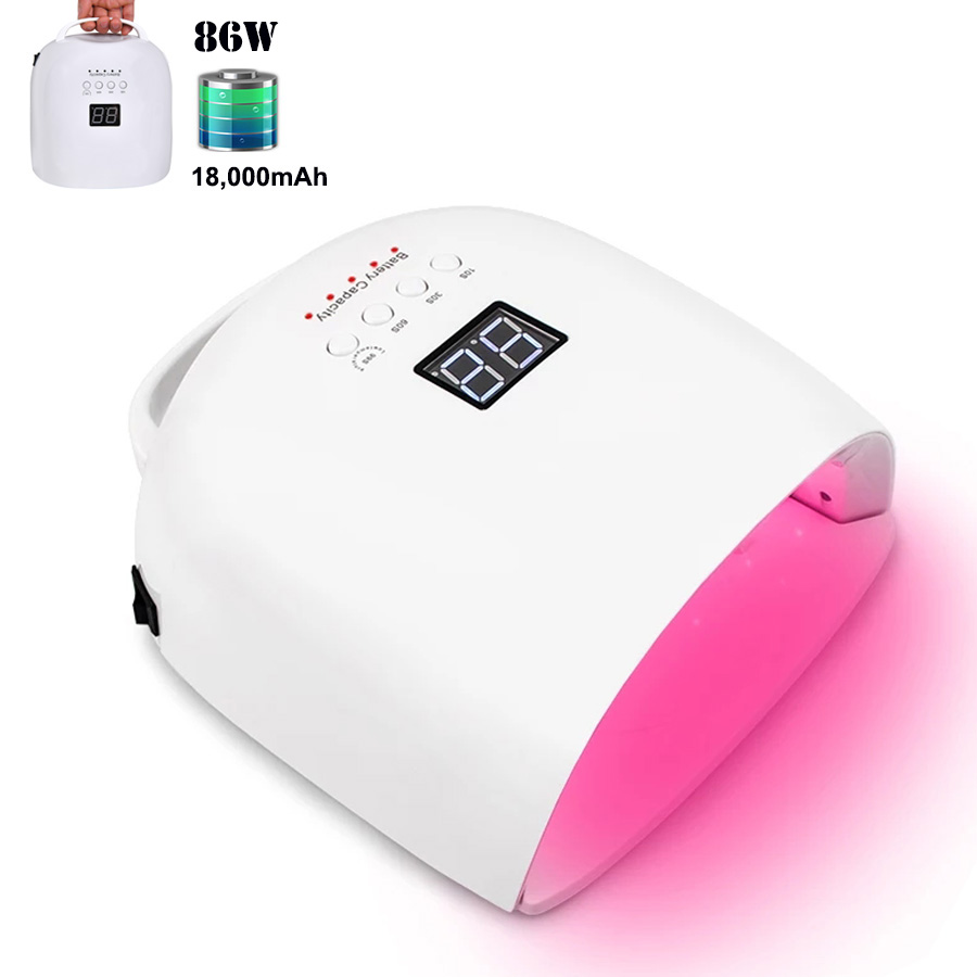 2020 New Red Light Rechargeable Nail LED Lamp Wireless Gel Polish Dryer UV Curing Light Manicure Lamps Cordless Nail Art Lamp image