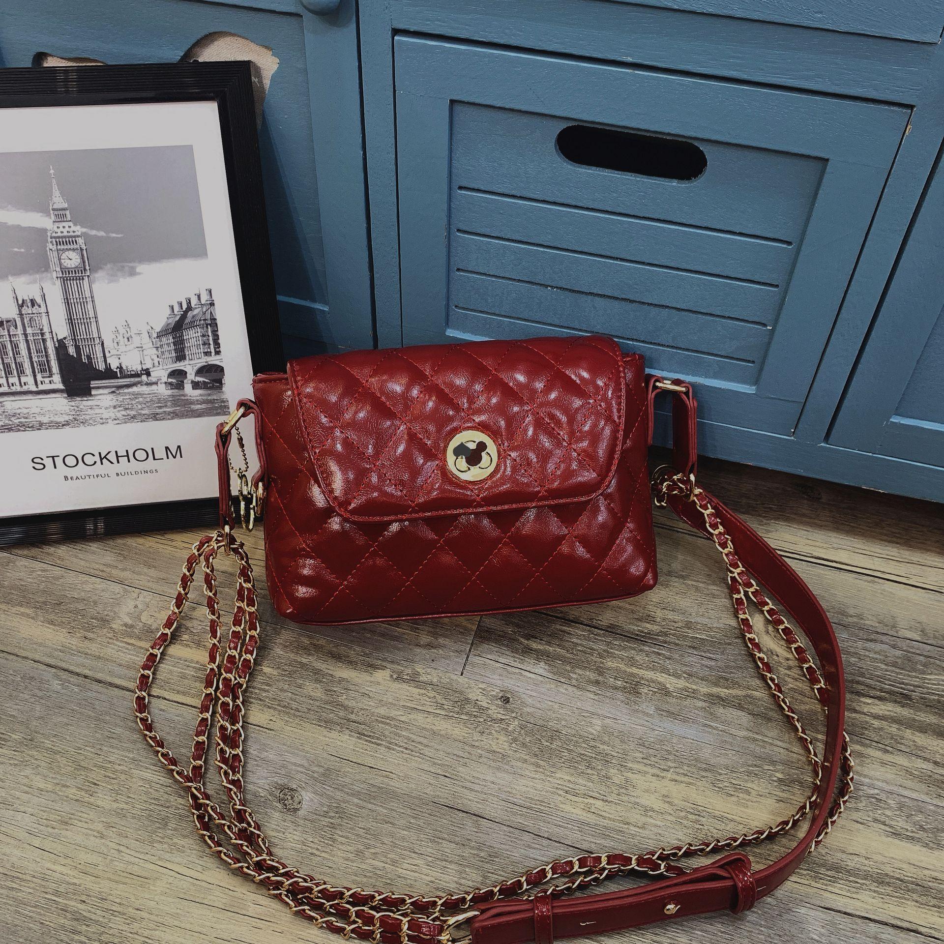 Women Leather Handbags Cherry Top Handle Shoulder Bags