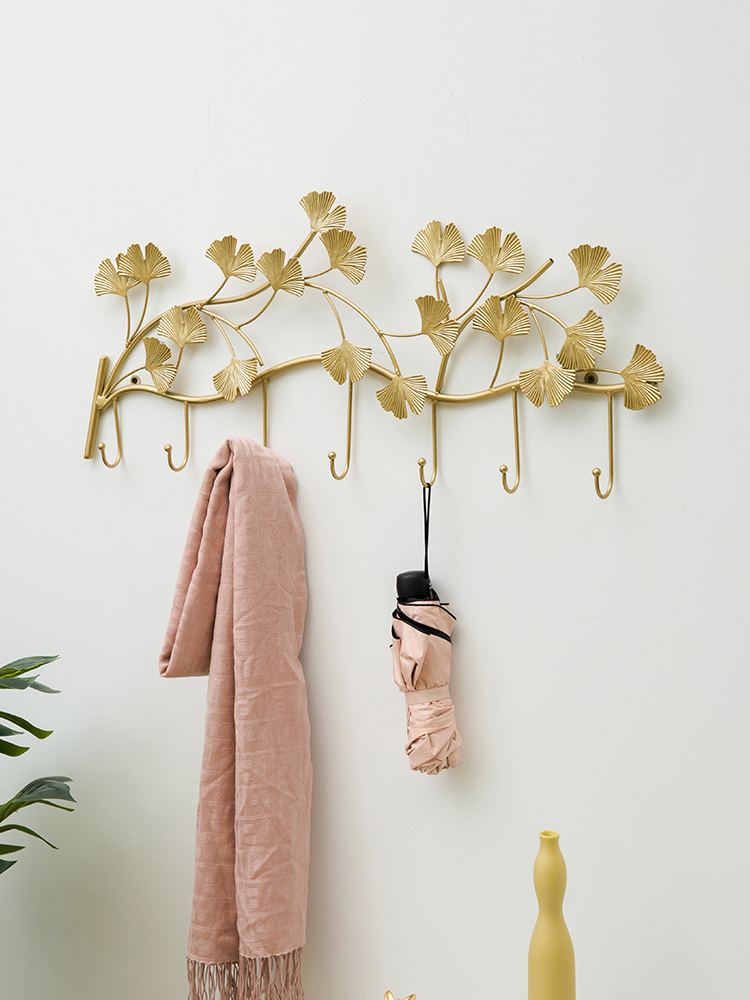 Northern Europe Creative Door Porch Decoration Cast Iron Hook Light Luxury Wind Hanging Clothes Hook Mounted Wall Hook