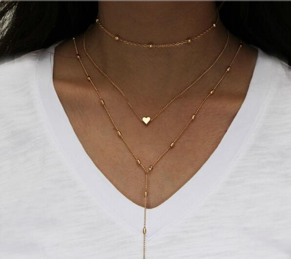 Pam Multi-layer Crystal Pendant Necklace for women - Kito City Jewelry