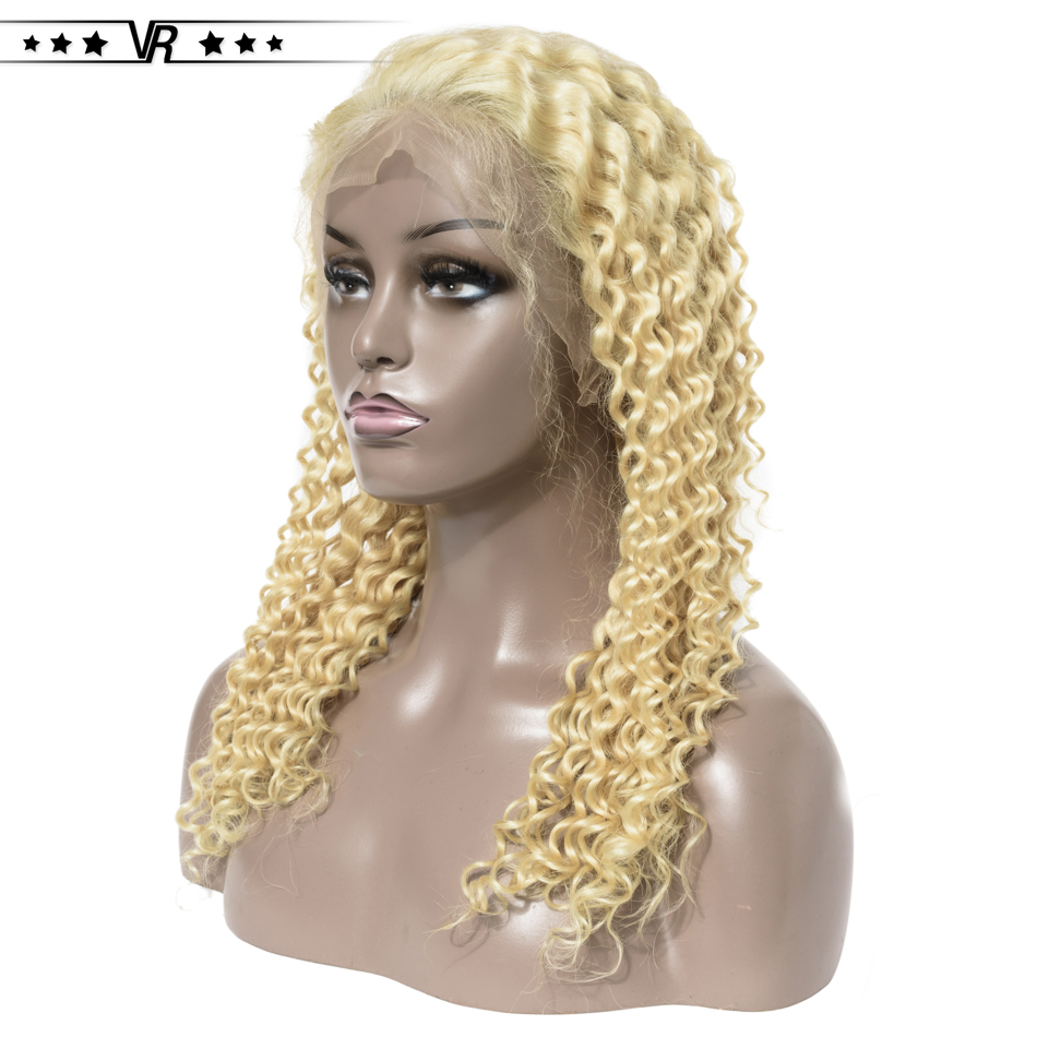 613 Lace Front Wig Deep Wave 130%-200% Density 13x4 Brazilian Blonde Human Hair Lace Front Wig