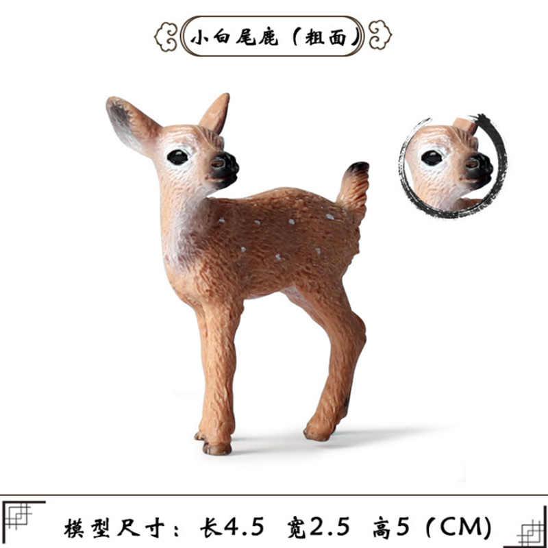 10 Jenis Simulasi Putih Ekor Rusa Sosok Tertagih Mainan Solid Rusa Hewan Action Figure Anak-anak Bergerak Mainan