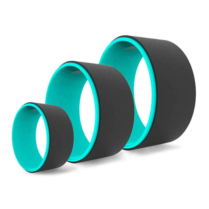 Dr.Qiiwi 3PCS Yoga Pilates Circle Yoga Wheel  Set Fitness Roller Back Training Tool Gym Workout Fitness Equipment Pilates Ring