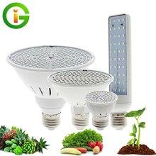LED تنمو ضوء لمبة الطيف الكامل E27 مصباح فيتو 220 فولت النمو ضوء مصباح الزراعة المائية لزراعة النباتات الزهور الشتلات