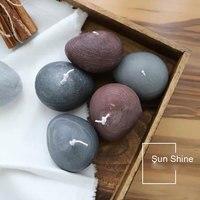 Three hole simulation stone chocolate candle mold diy silicone creative cobblestone Mousse cake fondant jelly soap mold