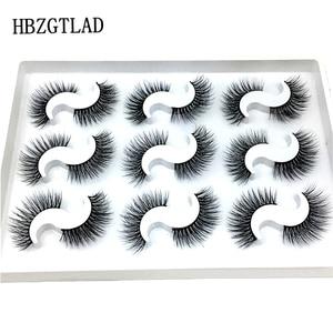 Image 5 - NUOVO 5/9/10 pairs Ciglia di Visone 3D ciglia Finte di Spessore Incrociato Trucco di Estensione del Ciglio Naturale Volume Molle Falso Occhio ciglia