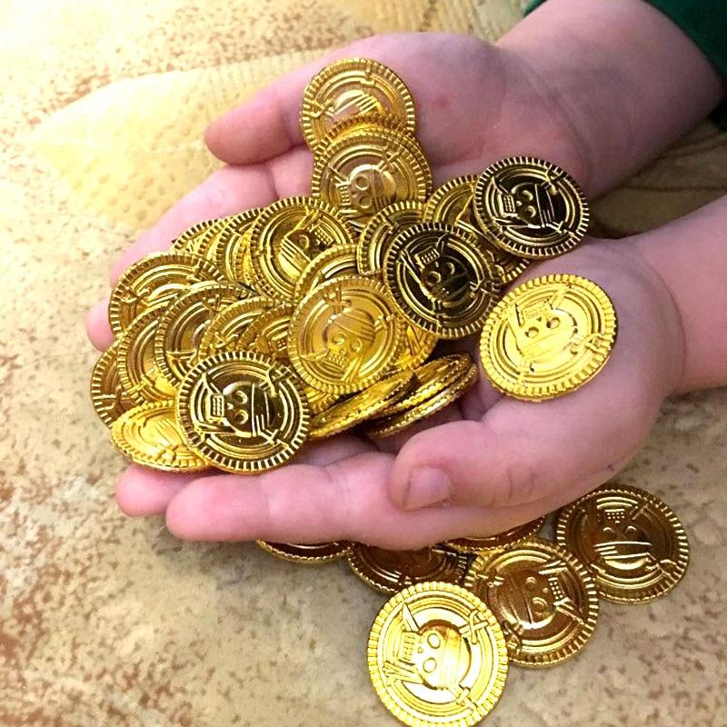 50 звёзд, золотые монеты, пиратское сокровище, игра на хэллоуин, игра, деньги, реквизит для пиратвечерние, детская вечевечерние, рождественск...