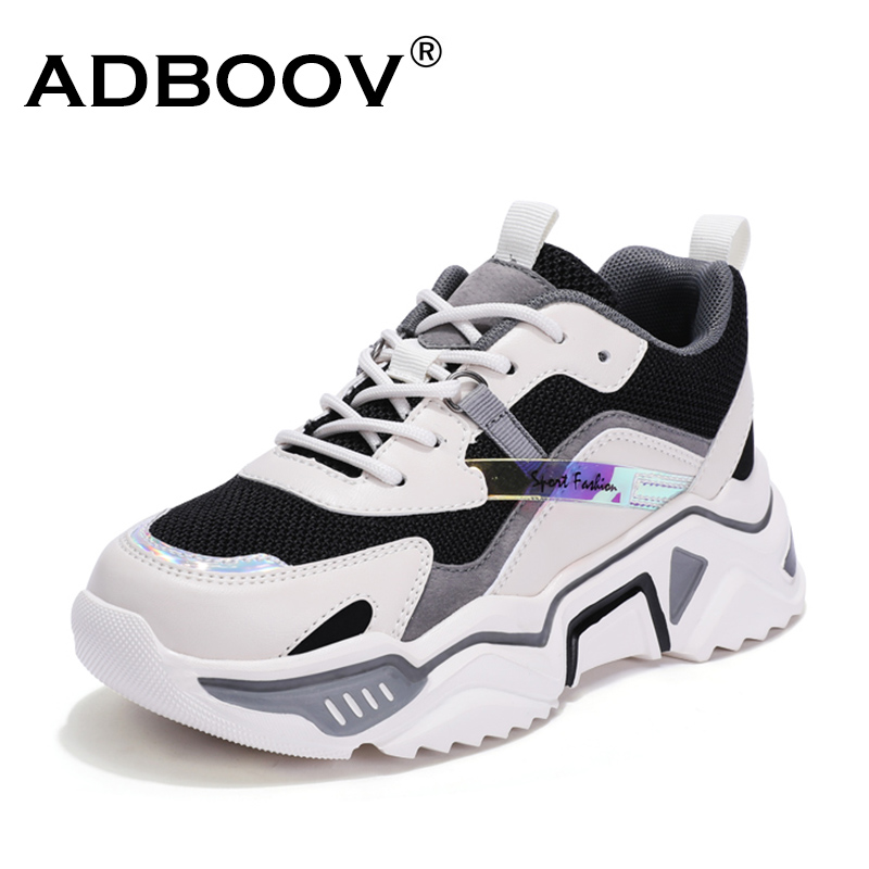 ADBOOV 2020 New Spring Summer Casual Chunky Shoes Woman Breathable Fashion Women Sneakers