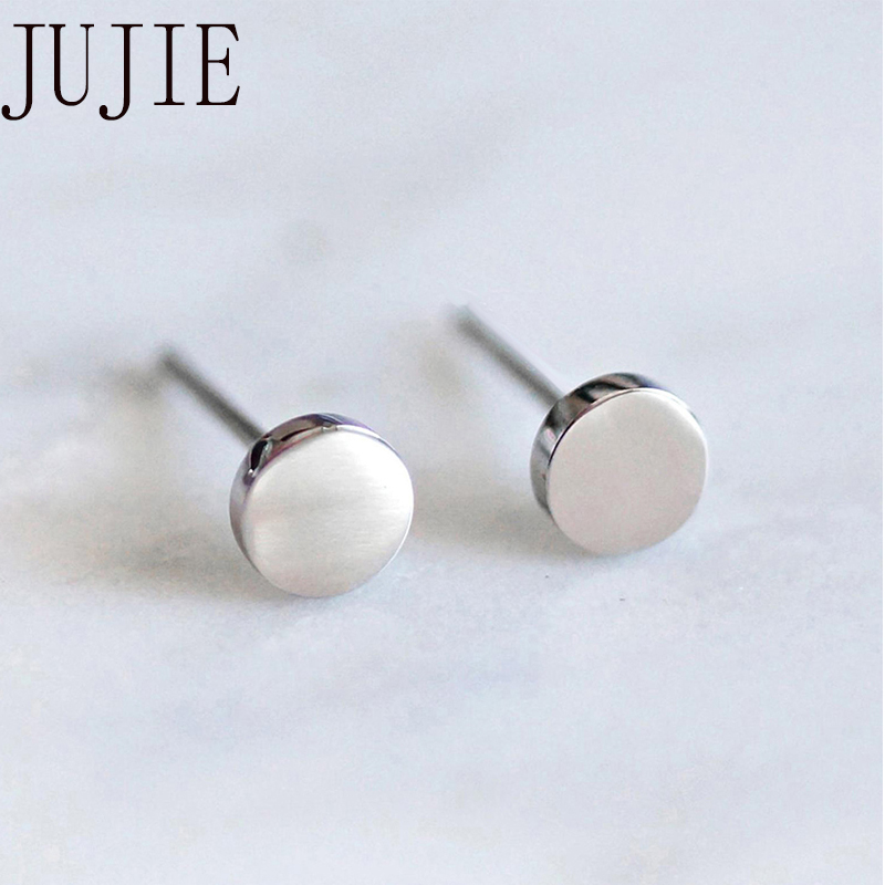 JUJIE Stainless Steel Earrings For Women 2020 Minimalist Small Geometric Earing Girls Dainty Earrings Jewelry Dropshipping