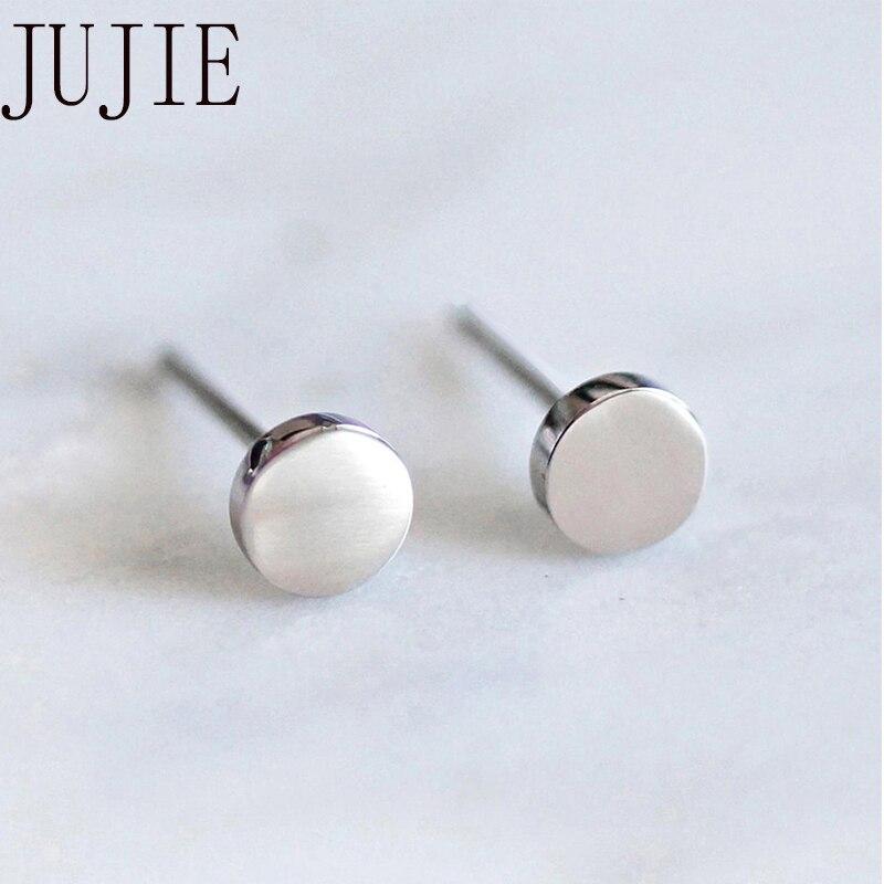 JUJIE Stainless Steel Stud Earrings For Women 2020 Minimalist Small Geometric Earings Fashion Jewelry Girls Dainty Earrings