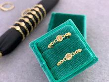 18k sólido amarelo ouro jóias (au750) ins designer corrente anel estilo minimalista empilhados com letras de marca redonda pode ser gravado
