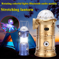 USB multifunctional LED tent light Colorful Bluetooth Speaker Portable Lantern Collapsible Waterproof Camping party stage lights