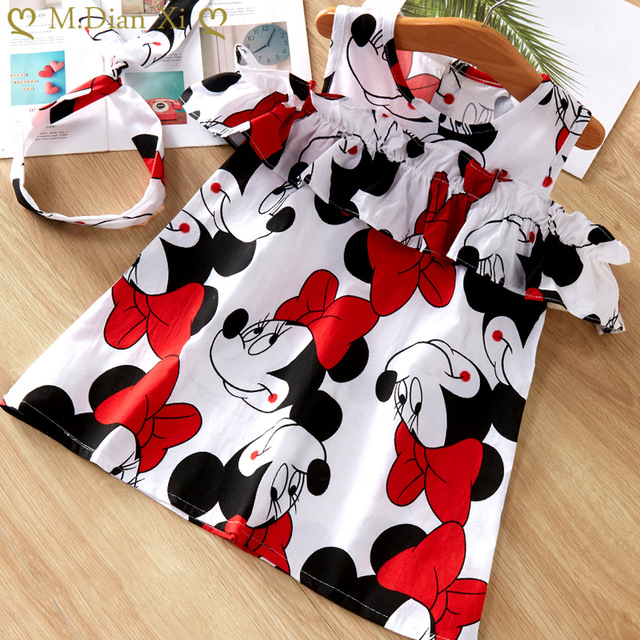Kids Dresses Girls 2020 New Fashion Sweater Cotton Flower Shirt Short Summer T-shirt Vest Big For Maotou Beach Party Dress 3