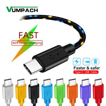 Rodzaj usb C kabel szybkie ładowanie 1m 2m 3m ładowarka do huawei p9 p10 p20 mate 10 pro lite samsung S9 S10 Plus s8 uwaga 9 kabel do transmisji danych tanie i dobre opinie vumpach TYPE-C CN (pochodzenie) USB A