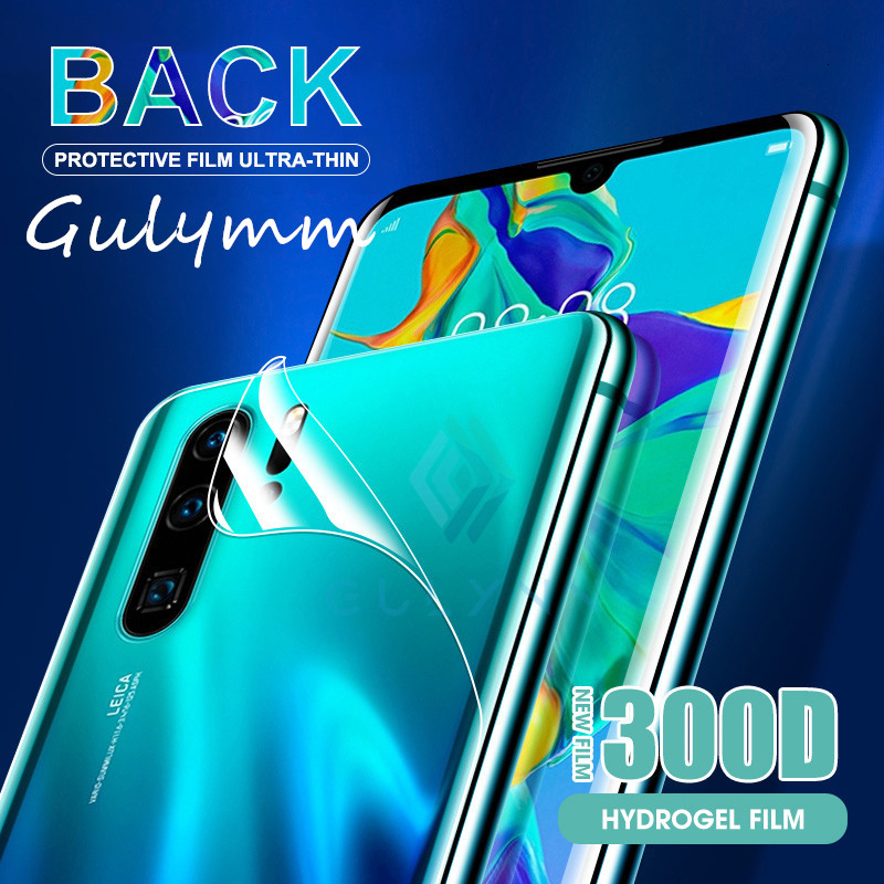 <font><b>300D</b></font> Back Full Cover Protective Soft Hydrogel Film for Huawei Honor 8X 9X 10 i 20 P30 P20 Pro Lite HD Screen Protector Not Glass image