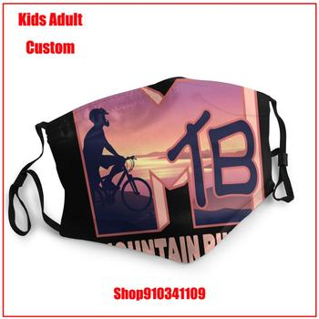 Fashion Brands Kids adult men women MTB Logo Mountain Biking DIY face mask fashion mask for face masks washable reusable face