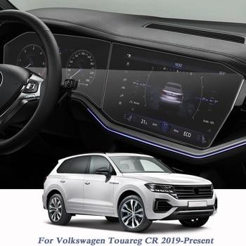 Car Styling For Volkswagen Touareg CR 2019-Present GPS Navigation Screen Film Dashboard Display Screen Film Interior Sticker 1