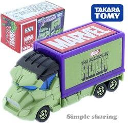 Takara Tomy Tomica Marvel TUNE Evo. 5.0 Masked Carry Hulk Kit Modelo de Caminhão Diecast Carro Engraçado Crianças Bonecas Brinquedos Para As Crianças Do Bebê