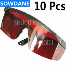 10 Pcs Dental with Adjustable Handle Protective Glasses For Curing Light Teeth Whitening Lamp Red Color  цены