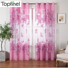 Sheer-Curtains Bedroom Living-Room Floral-Style Embroidered Window-Tulle 1-Panel Luxury