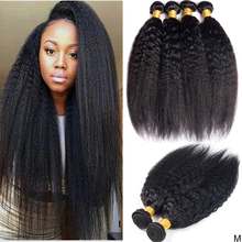 Kinky Straight Hair Bundles 30 inch Human Hair Bundles Deal Brazilian Hair weave Bundles Sew in Human Hair Extensions Non-remy cheap maxine Non-remy Hair =10 Permed Weaving Machine Double Weft Natural Black Yaki Straight Bundles 8-30 inch Yaki human Hair Extension