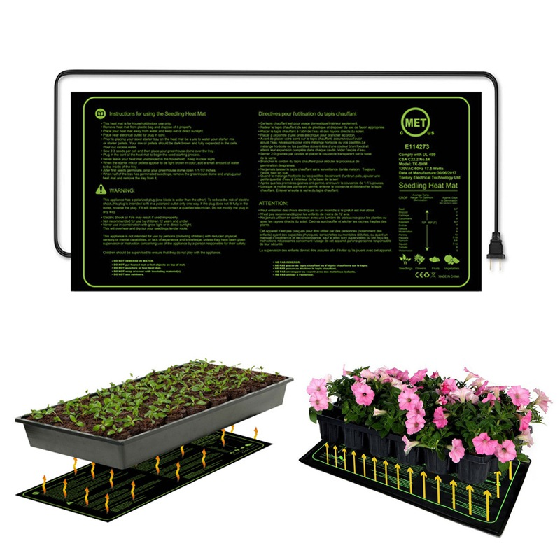 Seedling Heating Mat 52x24cm Waterproof Plant Growth Heating Mat Seed Germination Propagation Clone Starter Pad Garden Supplies