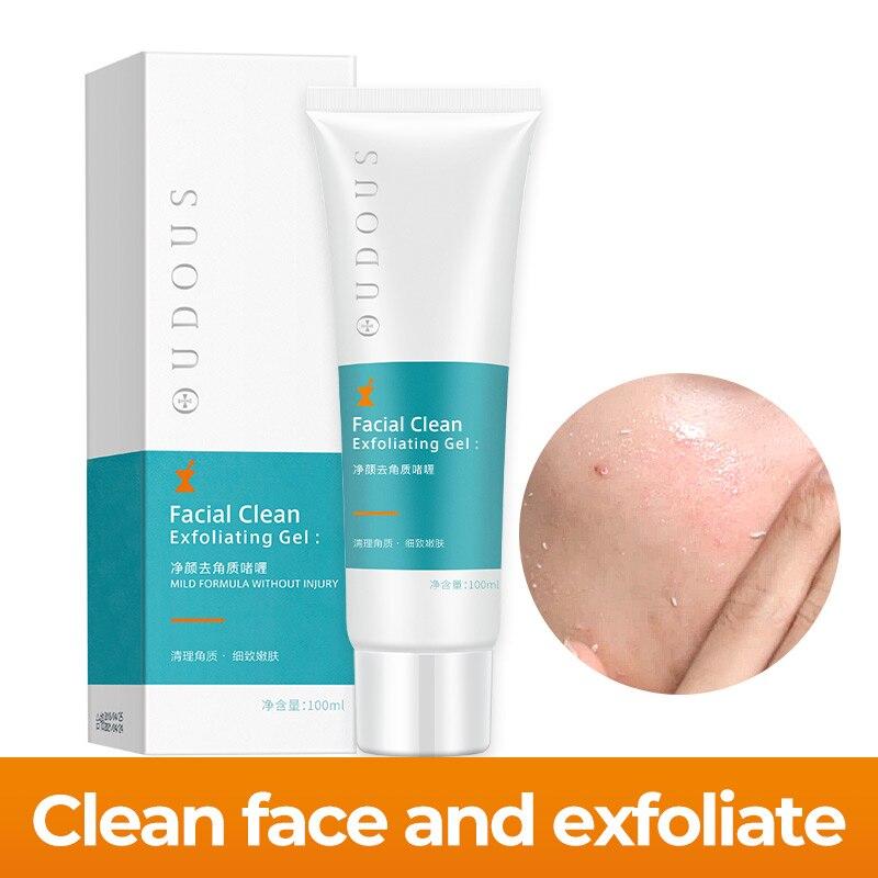 El Gel exfoliante de limpieza profunda de 100ML hidrata la crema exfoliante Facial Suave y orgánica limpiador de poros crema exfoliante
