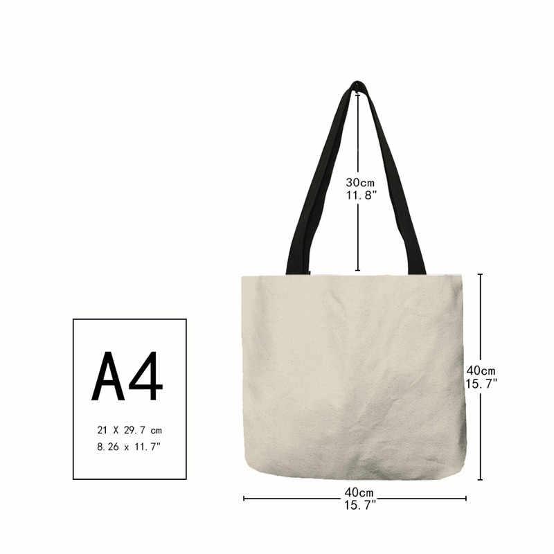 B13026 креативные сумки для девочек серии, сумки для покупок с двусторонним принтом, сумки для женщин и девушек