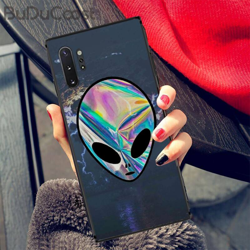 Aesthetics Cute Cartoon Alien Space Coque Shell Phone Case For Samsung Galaxy A50 A70 A20 A30 Note9 8 Note7 Note10 Pro