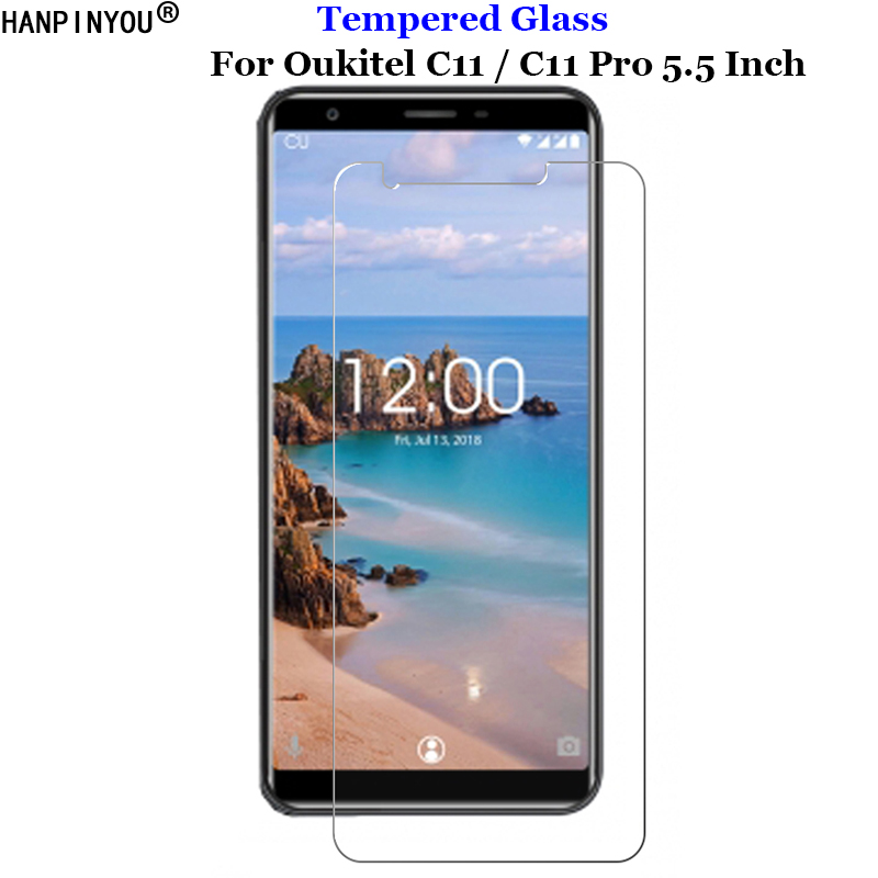 For <font><b>Oukitel</b></font> C11 Tempered Glass 9H 2.5D Premium Screen Protector Film For <font><b>Oukitel</b></font> C11 Pro <font><b>C11pro</b></font> 5.5