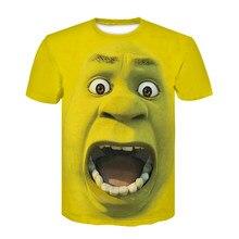 2021 novely shrek t camisa 3d impressão anime camiseta homem da forma de manga curta verão dos desenhos animados t camisa harajuku grinch