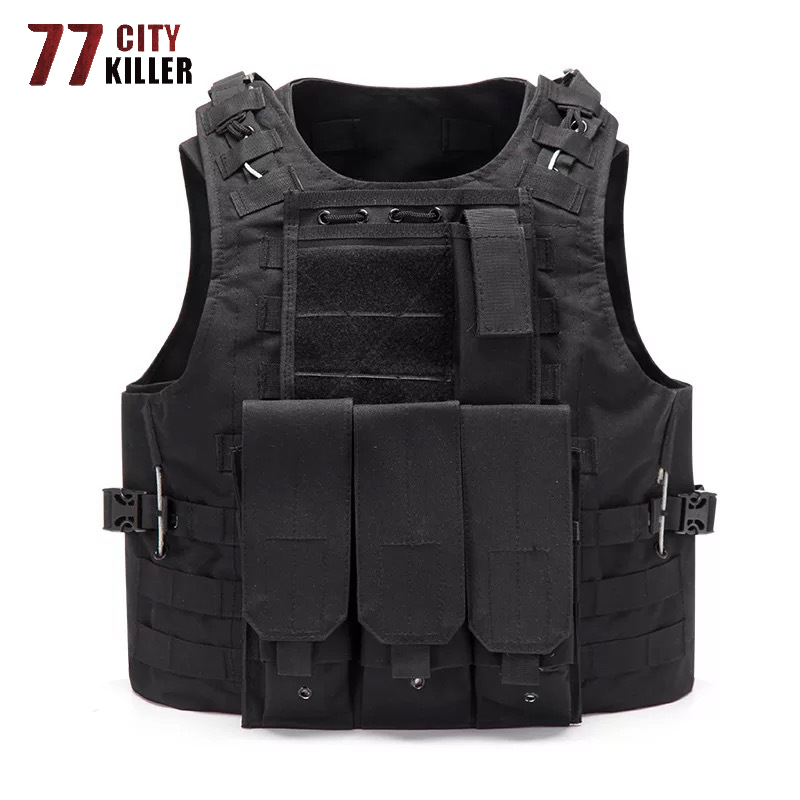 77City Killer Combat Unloading Hunting Molle Vest Military Soldier Tactical Vest Army Cs Jungle Camouflage Carrier Shooting Vest