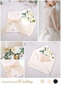 Image 5 - 50pcs 초대장 카드 신부, 베이비 샤워 초대, 생일, 저녁 초대, 꽃과 핑크 주머니